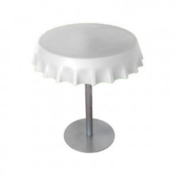Fizzz, table medium ronde design diamètre 70 cm, Slide Design blanc