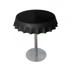 Fizzz, table medium ronde design diamètre 70 cm, Slide Design noir
