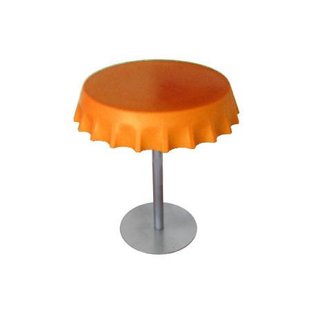 Fizzz, table medium ronde design diamètre 70 cm, Slide Design orange