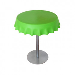 Fizzz, table medium ronde design diamètre 70 cm, Slide Design vert