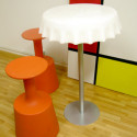 Table haute Fizzz, Slide Design blanc