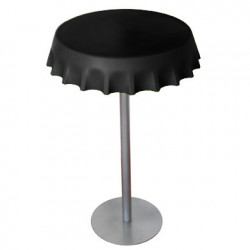 Table haute Fizzz, Slide Design noir