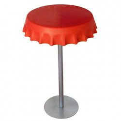Table haute Fizzz, Slide Design rouge