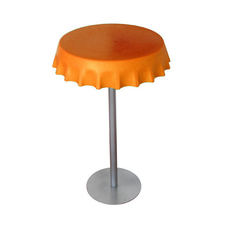 Table haute Fizzz, Slide Design orange