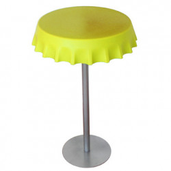 Table haute Fizzz, Slide Design jaune