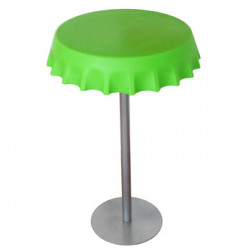 Table haute Fizzz, Slide Design vert