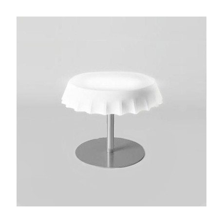 Fizzz, table basse lumineuse, slide design blanc
