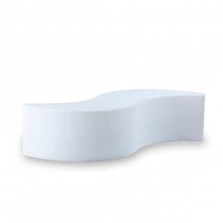 Banc Wave, Slide Design blanc
