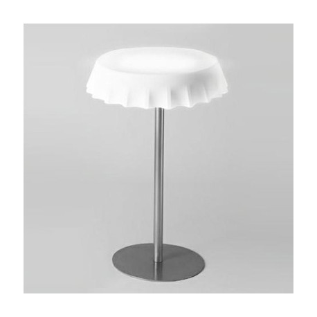 Table haute lumineuse Fizzz, Slide Design blanc