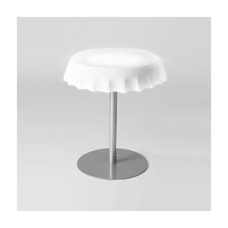 Fizzz, table medium lumineuse diamètre 70 cm, Slide Design blanc