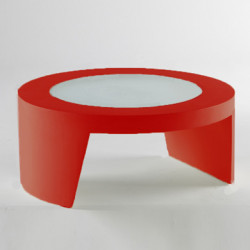 Table basse Tao, Slide Design rouge