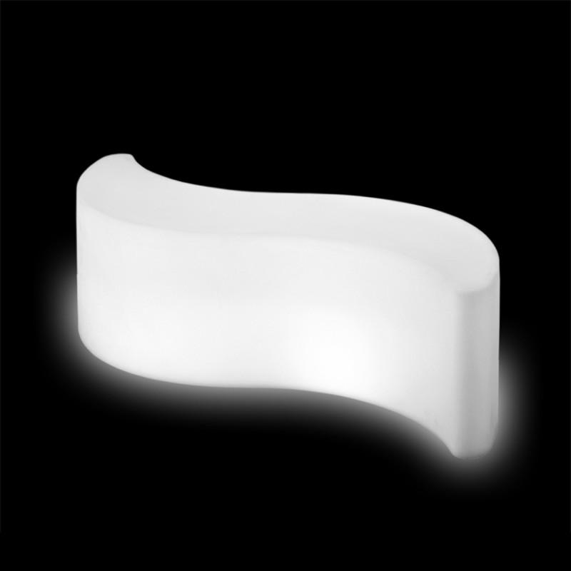 Table Basse Lumineuse Wave Slide Design Blanc Cerise Sur La Deco