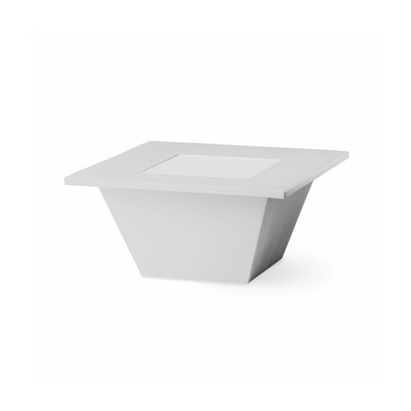 Table basse lumineuse Bench, Slide Design blanc