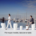 Pot Adan et Eva, Vondom blanc Moyen modèle laqué