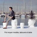 Tabouret Adan et Eva, Vondom blanc Petit modèle
