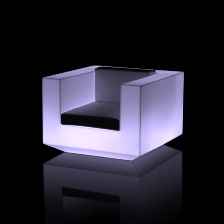 Fauteuil Vela lumineux, Vondom blanc