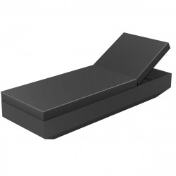 Chaise longue design Vela, Vondom anthracite