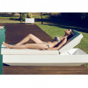 Chaise longue design Vela, Vondom blanc