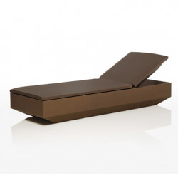 Chaise longue design Vela, Vondom Bronze
