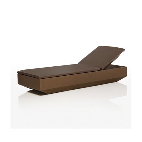 Chaise longue design Vela, Vondom bronze