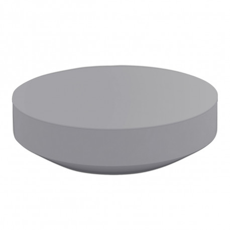 Table basse design ronde Vela, Vondom gris acier