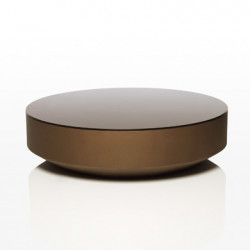 Table basse design ronde Vela, Vondom bronze