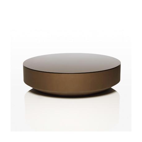 Table basse design ronde Vela, Vondom bronze