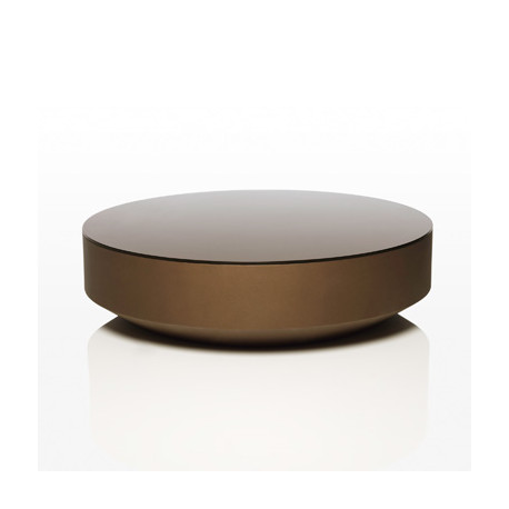 table basse design ronde vela vondom bronze cerise sur la deco. Black Bedroom Furniture Sets. Home Design Ideas