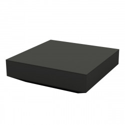 Table basse design carrée Vela, Vondom anthracite