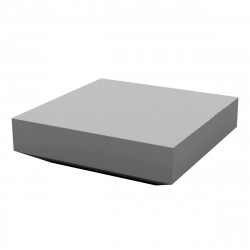 Table basse design carrée Vela, Vondom gris acier