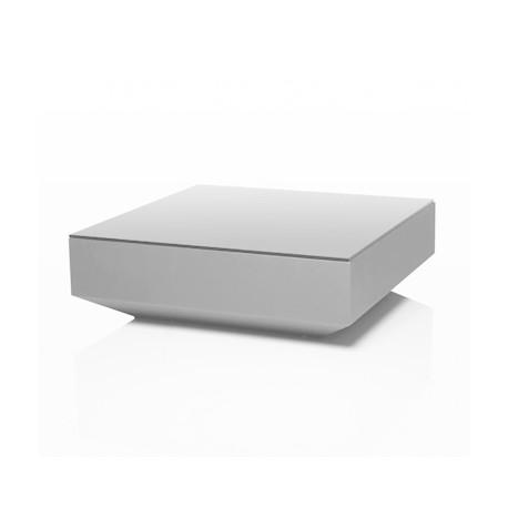 Table basse design carrée Vela, Vondom blanc