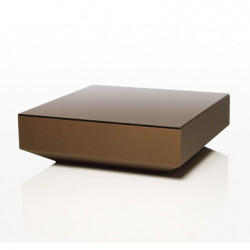 Table basse design carrée Vela, Vondom bronze
