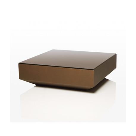 Table basse design carrée Vela, Vondom bronze