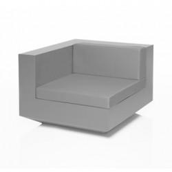 Module d\'angle canapé Vela, Vondom, 100x100xH72cm gris argent