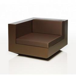 Module d\'angle canapé Vela, Vondom, 100x100xH72cm, Bronze