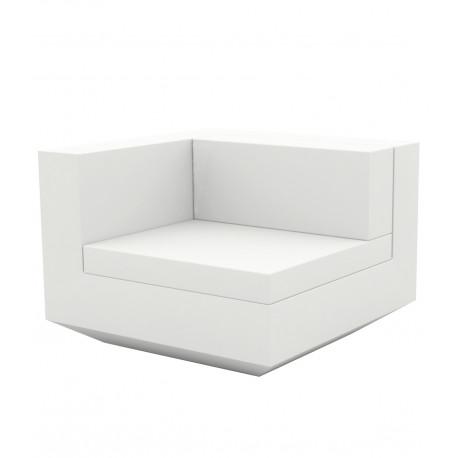 Module droit canapé Vela, Vondom, 100x100xH72cm blanc
