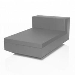 Module central chaise longue Vela, Vondom gris acier