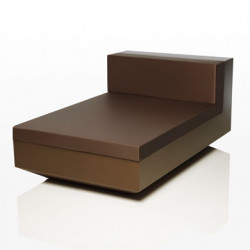 Module central chaise longue Vela, Vondom bronze