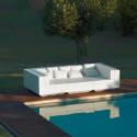 Canapé lounge Vela, Vondom blanc, tissu Silvertex blanc