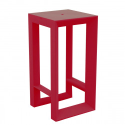 Table haute Frame, Vondom rouge