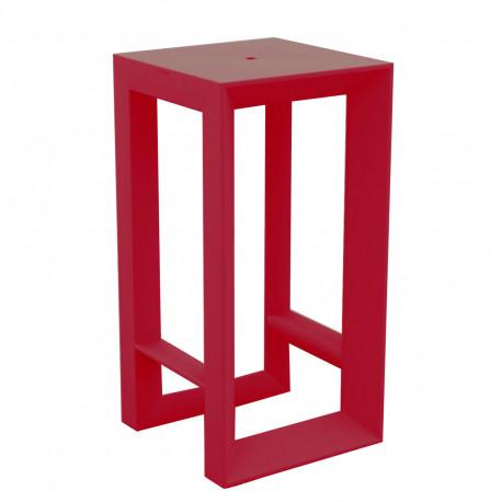 Table haute Frame, Vondom rouge