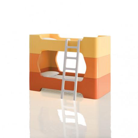 Lit à une place / lit superposé Bunky, Magis Me too orange clair