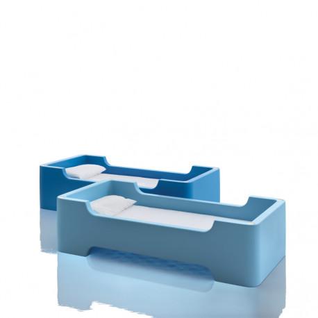 Lit à une place / lit superposé Bunky, Magis Me too bleu clair