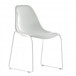Chaise Day Dream 400, Pedrali blanc, pieds blancs