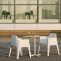 Plus 630 fauteuil, Pedrali blanc