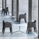 Plus 630 fauteuil, Pedrali gris anthracite