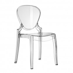 Queen 650 chaise design, Pedrali transparent