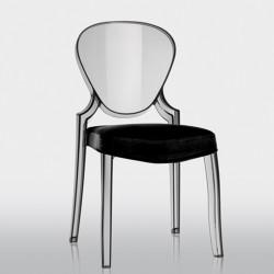 Queen 650.3, coussin pour chaise Queen 650, Pedrali noir