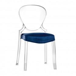Queen 650.3, coussin pour chaise Queen 650, Pedrali bleu