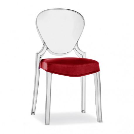 Queen 650.3, lot de 5 coussins pour chaise Queen 650, Pedrali rouge